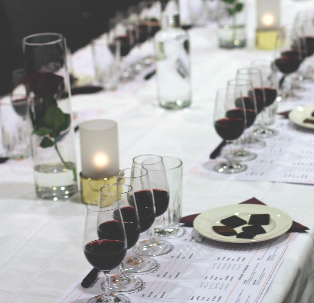 Vinprovning på GrandHotell Gävle