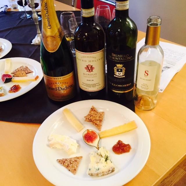 ost och vinprovning Uppsala